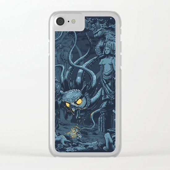 Defender of the Deep  Clear iPhone Case