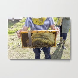 Beekeeping for Beginners Metal Print