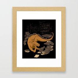 The Book Wyrm Framed Art Print
