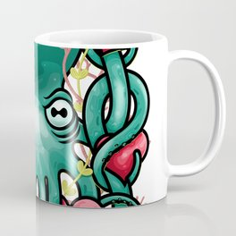 Octupus and Hearts Coffee Mug