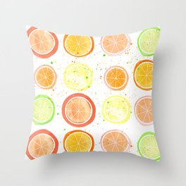 Citrus Fruit Throw Pillow