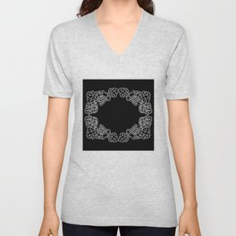 Abstract frame with bunches of grapes Unisex V-Neck
