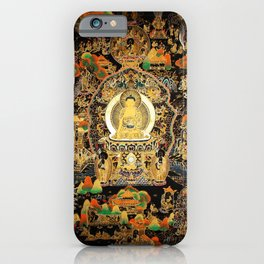 Buddha Life Autumn Gold Thangka iPhone Case