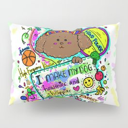 JB the Sporty Chocolate Poodle Pillow Sham