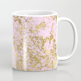 Pale Pink and Gold Patina Design Coffee Mug