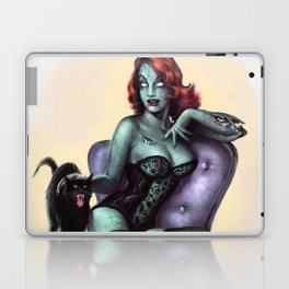 Halloween Zombie Girl Pin Up Laptop & iPad Skin