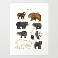 bears Art Prints featuring Bears by Amy Hamilton