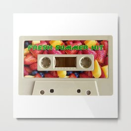 Fresh Summer Hit Fruit Salad Edition Casette Metal Print