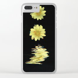 Daisy Time Splice Clear iPhone Case