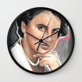 Rosalind Franklin Poster, Drawings Feminist Icon Portrait, Minimalist Wall Art Decor, Nursery Art, English Chemist Wall Clock