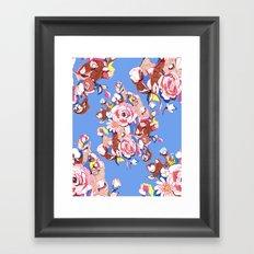 Blue Textile Framed Art Print
