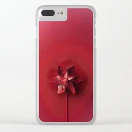 Red explosion Clear iPhone Case