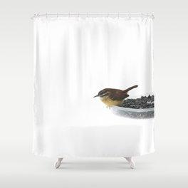 On the Edge: Carolina Wren Shower Curtain