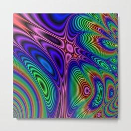 Fractal Op Art 11 Metal Print