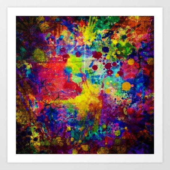 colorful canvas ii Art Print
