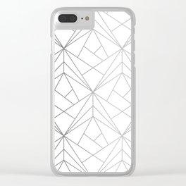 Geometric Silver Pattern Clear iPhone Case