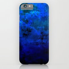 SECOND STAR TO THE RIGHT Rich Indigo Navy Blue Starry Night Sky Galaxy Clouds Fantasy Abstract Art Slim Case iPhone 6