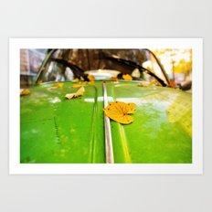Leaves on a bug Art Print