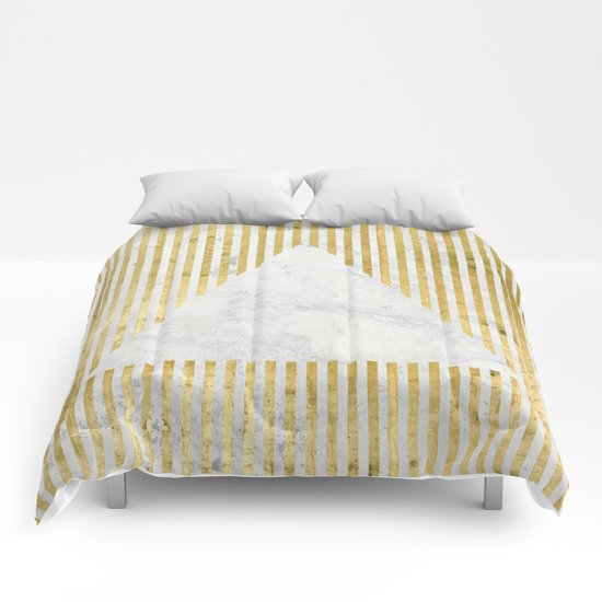 inverse trian gold Comforters