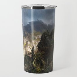 Hermann Herzog Storm in the Mountains Travel Mug