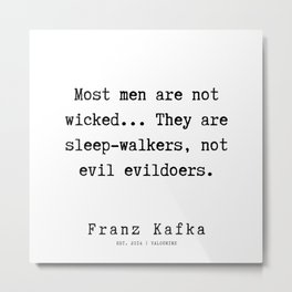 41   | Franz Kafka Quotes | 190910 Metal Print