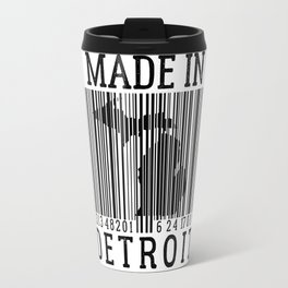 MADE IN DETROIT Bar Code Travel Mug