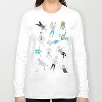 niall Long Sleeve T-shirts featuring Niall Pattern by jerrh