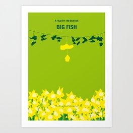 No993 My Big Fish minimal movie poster Art Print