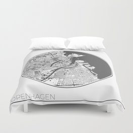 Copenhagen Map Universe Duvet Cover