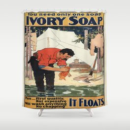 Vintage poster - Soap Shower Curtain