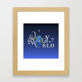 Joy to the World Silver Framed Art Print