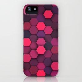 Geometric bright polygonal pattern  iPhone Case