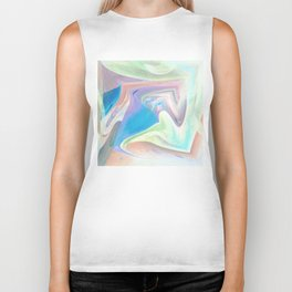 Soft Pastel Color Whispers Art By Annie Zeno  Biker Tank