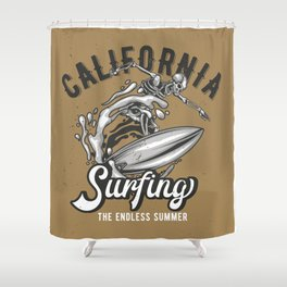 California Surfing Shower Curtain