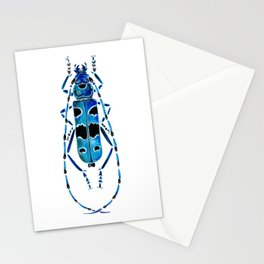 Beetle 09 blue Stationery Cards