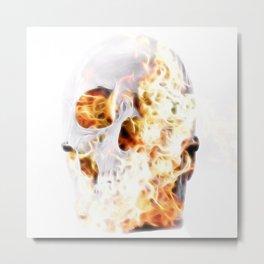 firey skull Metal Print