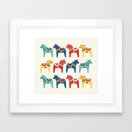 Swedish Horses Framed Art Print