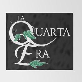 LaQuartaEra_Black Throw Blanket
