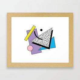 Memphis pattern 56 - 80s / 90s Retro Framed Art Print