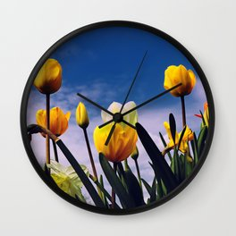 Relax With The Tulips Wall Clock