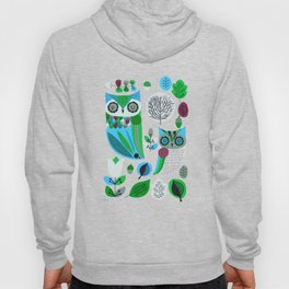 Night Owls Retro Pattern Hoody