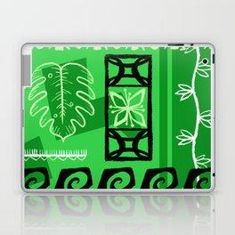Hawaiian Pattern #1 - green! Laptop & iPad Skin