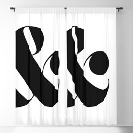 Large Side Ampersand Blackout Curtain