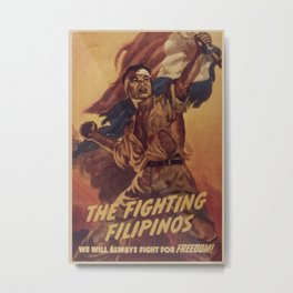 Vintage poster - The Fighting Filipinos Metal Print