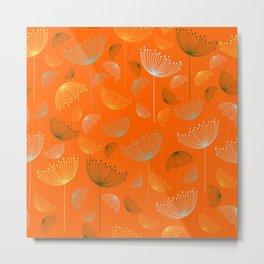 Mid-Century Modern Art Umbrella Flowers 1.4 Metal Print