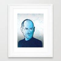 steve jobs Framed Art Prints featuring Steve Jobs by BTillustration
