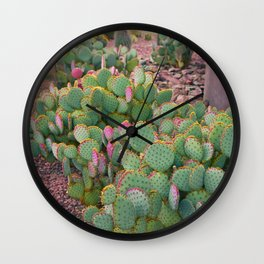 Prickly Pear Cactus Arizona Wall Clock