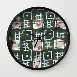 Tic Tac Hearts Wall Clock