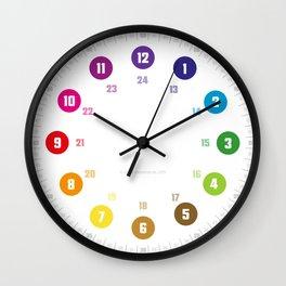 EasyRead Lernuhr simples Design minimalistisch regenbogen Kinderuhr kinderzimmeruhr klassenzimmeruhr hatgirl  Wall Clock