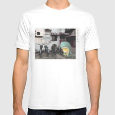 Whale Boy in Hong Kong Mens Fitted Tee White MEDIUM